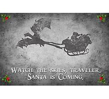 Skyrim Christmas Card: Watch the Skies Traveler Photographic Print