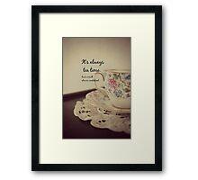 Tea Time Alice Wonderland Framed Print