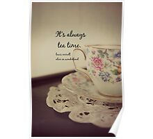 Tea Time Alice Wonderland Poster