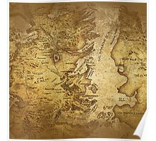 Distressed Maps: Game of Thrones Westeros & Essos Poster