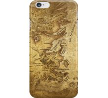 Distressed Maps: Game of Thrones Westeros & Essos iPhone Case/Skin