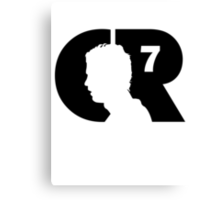 CR7 logo black Canvas Print