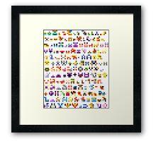 Original 151 Pokemon Minimalism Framed Print