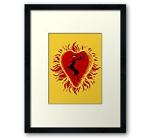 Stannis Baratheon Sigil - Firey Heart Framed Print