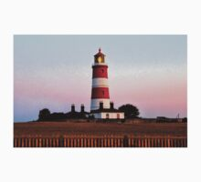 Happisburgh lighthouse shining Kids Clothes