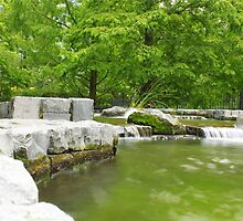 Fountain with stones by Ashadeep