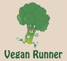 Vegan Runner - Running Broccoli T-Shirt