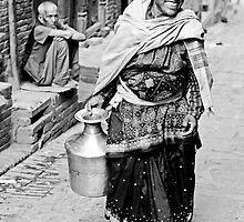 Woman in Bhaktapur by Valerie Rosen