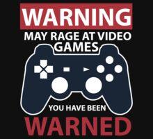WARNING MAY RAGE AT VIDEO GAMES Kids Clothes