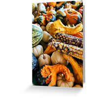 Corn and Gourds Greeting Card
