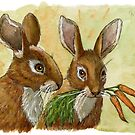 Funny Rabbits - Little Gift for You 529 by schukinart