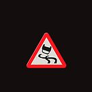 Road sign - very slippery when wet by stuwdamdorp