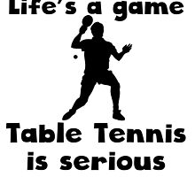 Table Tennis Is Serious by kwg2200