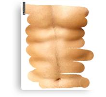 Fitness abs through shirt Canvas Print