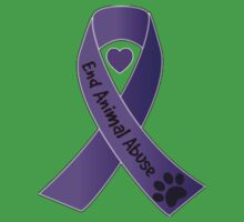 End Animal Abuse Ribbon Kids Clothes