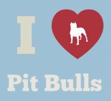 I Heart Pit Bulls Kids Clothes