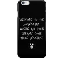 The Mighty Boosh – Welcome to the Zooniverse (White) iPhone Case/Skin
