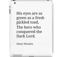 Ginny Weasley Poem iPad Case/Skin