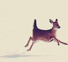 leaping doe by hallenash