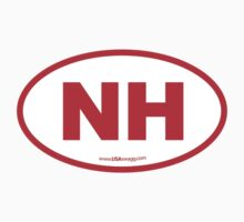 New Hampshire NH Euro Oval RED by USAswagg2