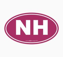New Hampshire NH Euro Oval PINK by USAswagg2