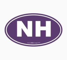 New Hampshire NH Euro Oval PURPLE Kids Clothes