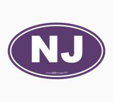 New Jersey NJ Euro Oval PURPLE Kids Clothes