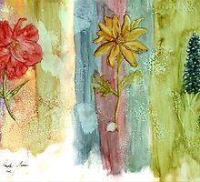 Three Flowers by Linda Ginn Art