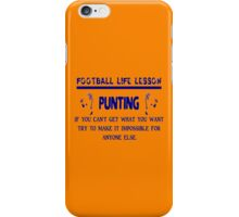 Punting: Football Life Lessons iPhone Case/Skin