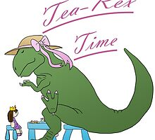 Tea-rex Time by ArtWithPorpoise