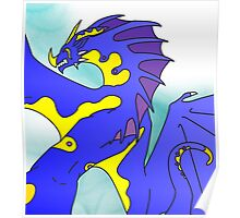Tribal Water Dragon (Light) Poster