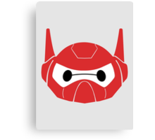 Baymax Head with Helmet Canvas Print