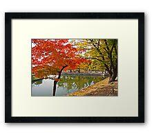 The Autumn Beauty of Hyangwonji Framed Print