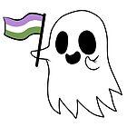 Agender Pride Ghost by RessQ