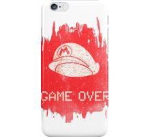 Game Over Mario iPhone Case/Skin