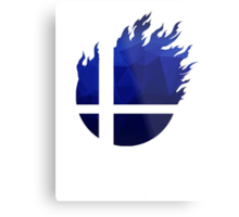 Super Smash Bros. Logo - Blue EVO Style Metal Print