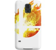 Super Smash Bros. Logo - Fire Samsung Galaxy Case/Skin