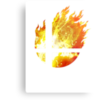 Super Smash Bros. Logo - Fire Metal Print