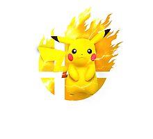 Smash Pikachu Photographic Print