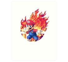 Smash Mario Art Print