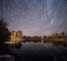 Startrails over Jackson Hole's Newest Park by A.M. Ruttle