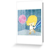 Star Wars babies - inspired by Luke Skywalker Greeting Card