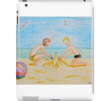 Children on the beach iPad Case/Skin