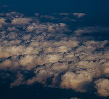 Untitled - sunset clouds by Amber Redfield
