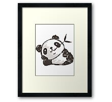 Panda that is relaxing Framed Print