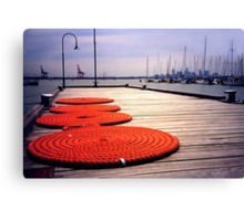 Rope Circles on jetty, Williamstown Canvas Print