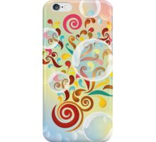 Explosion of colors - illustration of colorful shapes and bubbles iPhone Case/Skin