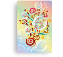 Explosion of colors - illustration of colorful shapes and bubbles Canvas Print