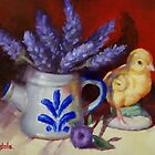 Chicken And Lavender Still Life by Margaret Stockdale