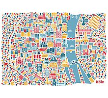 Cologne City Map Poster Photographic Print